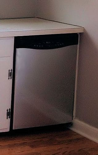 Stainless effect contact paper on dishwasher