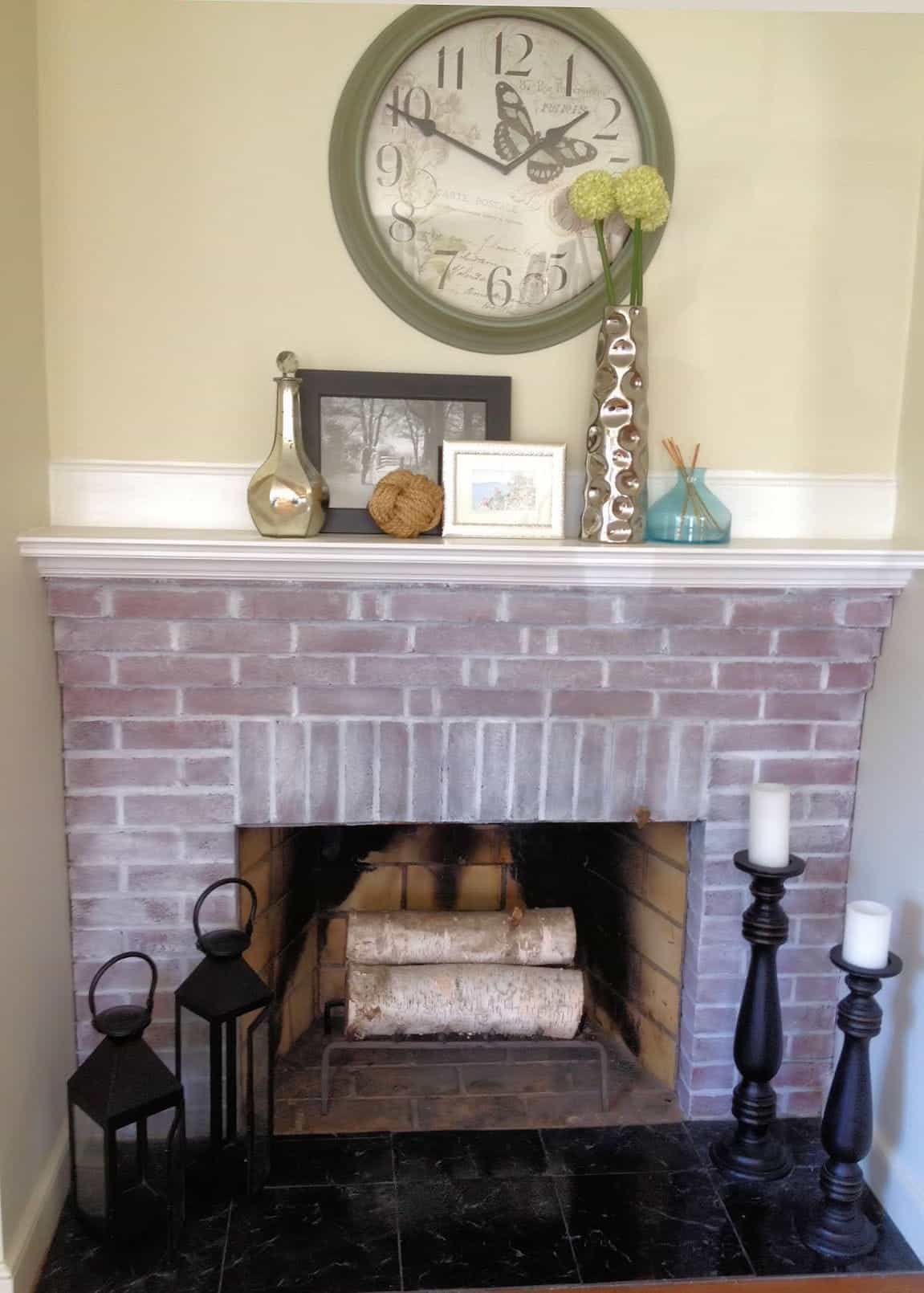 painted brick fireplace the power of whitewash