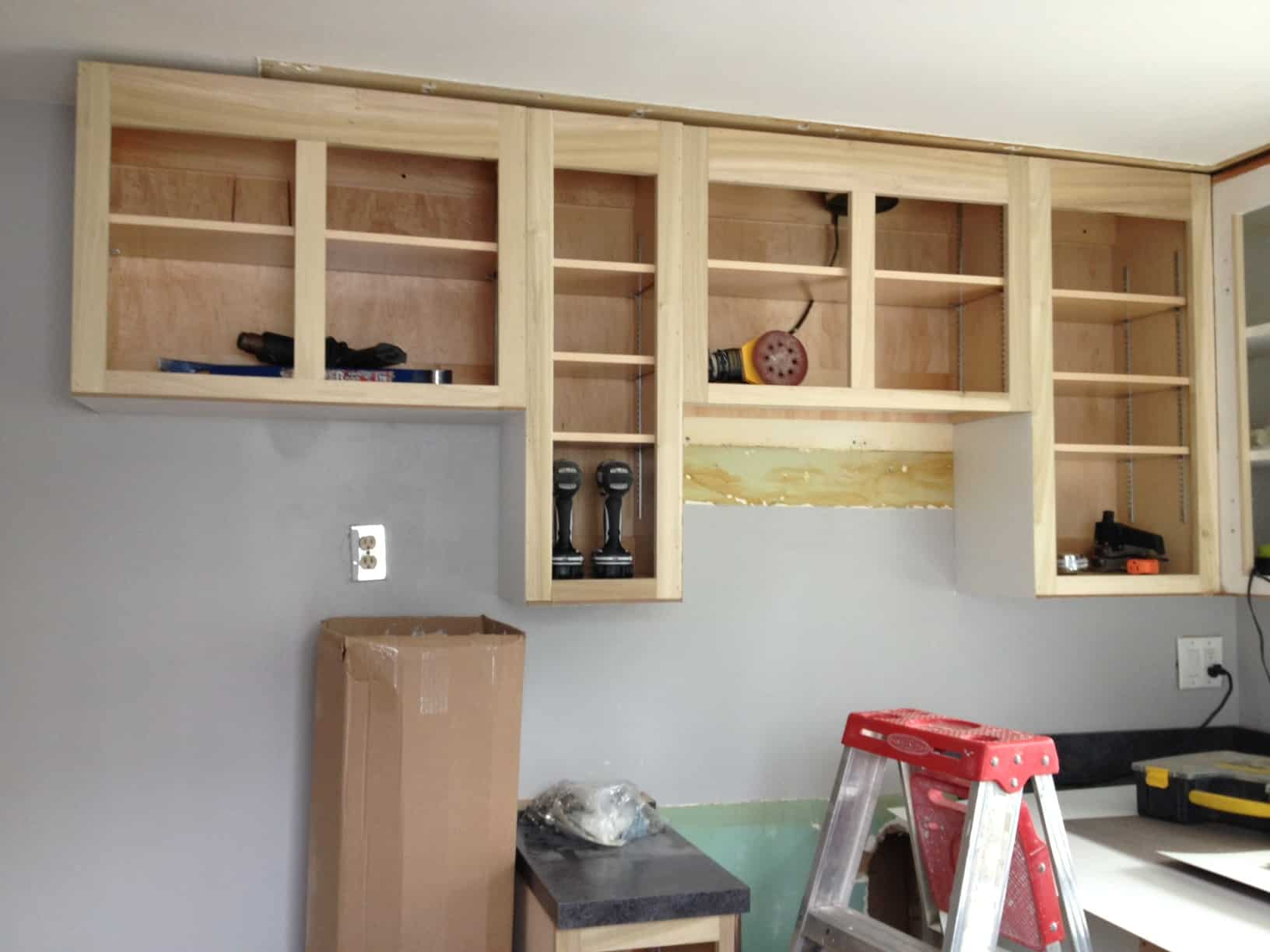 New wall of cabinets