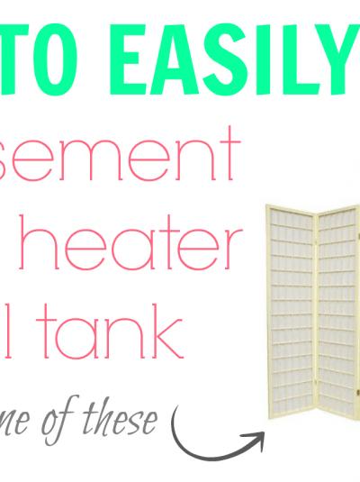 Hiding a Basement Water Heater & Oil Tank