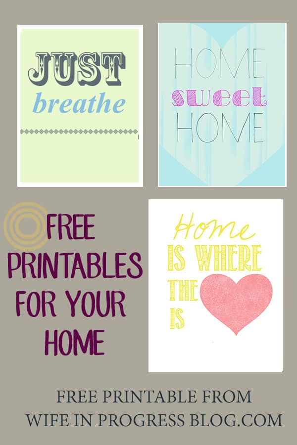 Free Printables | WifeinProgressBlog.com
