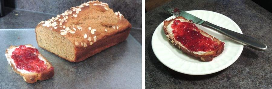 Irish brown bread with jam