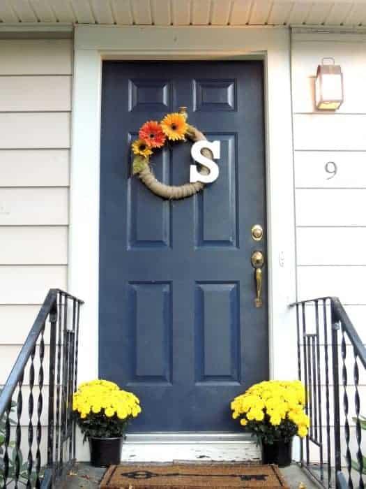 True Blue My Newly Painted Front Door Wife In Progress