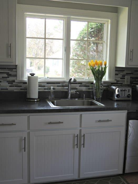 peel and stick backsplash tile | Wife in Progress
