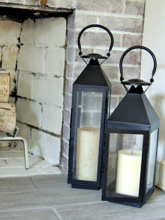 fireplace lanterns
