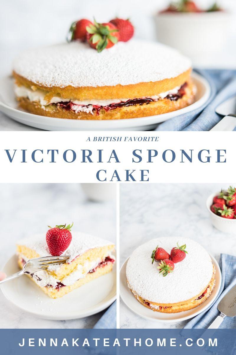 victoria sponge cake pinteres