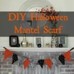 DIY Halloween Mantel Scarf