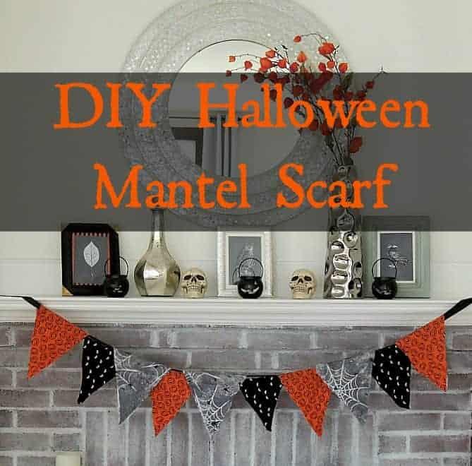 DIY Halloween Mantel Scarf