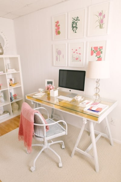 Gold leaf crafts: ikea desk hack