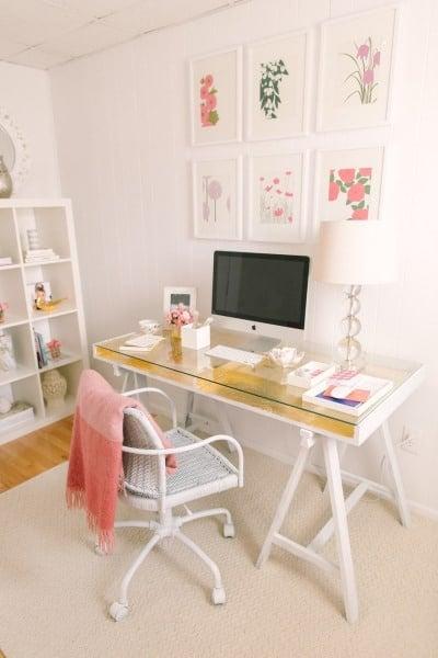 Gold leaf crafts: ikea desk hack