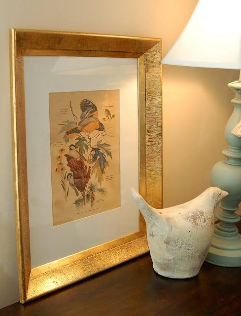 Gold leaf crafts: beautiful mirror