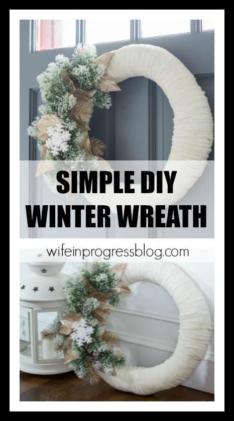 Simple DIY winter wreath