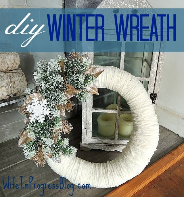 How to Make a Christmas Wreath - 21 of the best Christmas Wreaths That You Can Make Yourself! I love this Winter Wreath - MUST PIN!
