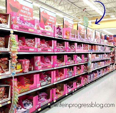 valentine candy aisle | wifeinprogressblog.com #shop #cbias