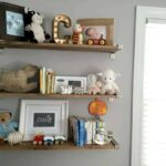 rustic ikea hack shelves