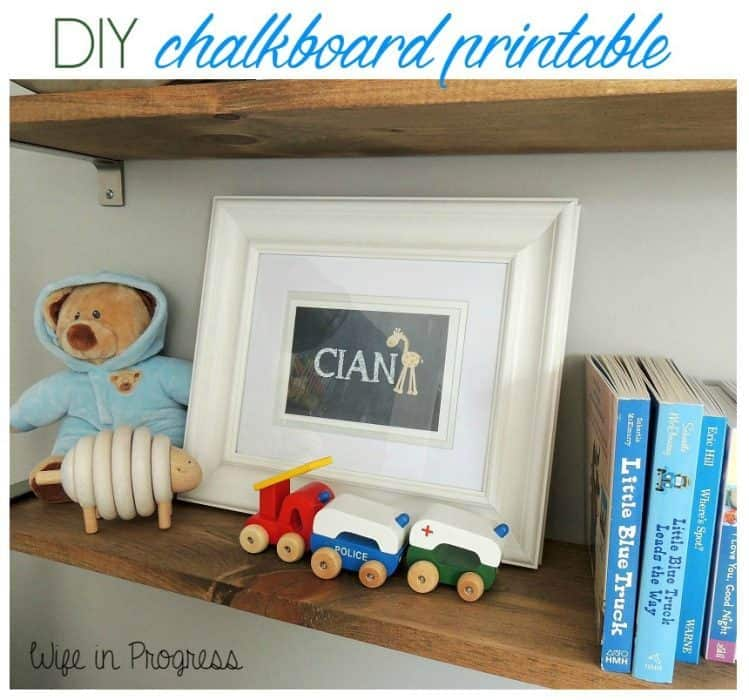DIY chalkboard printable