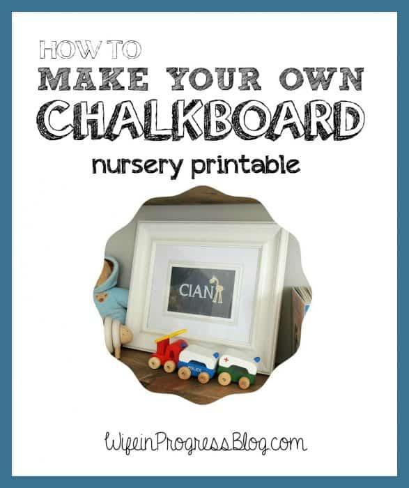 How to make a custom chalkboard printable   Wife in Progress