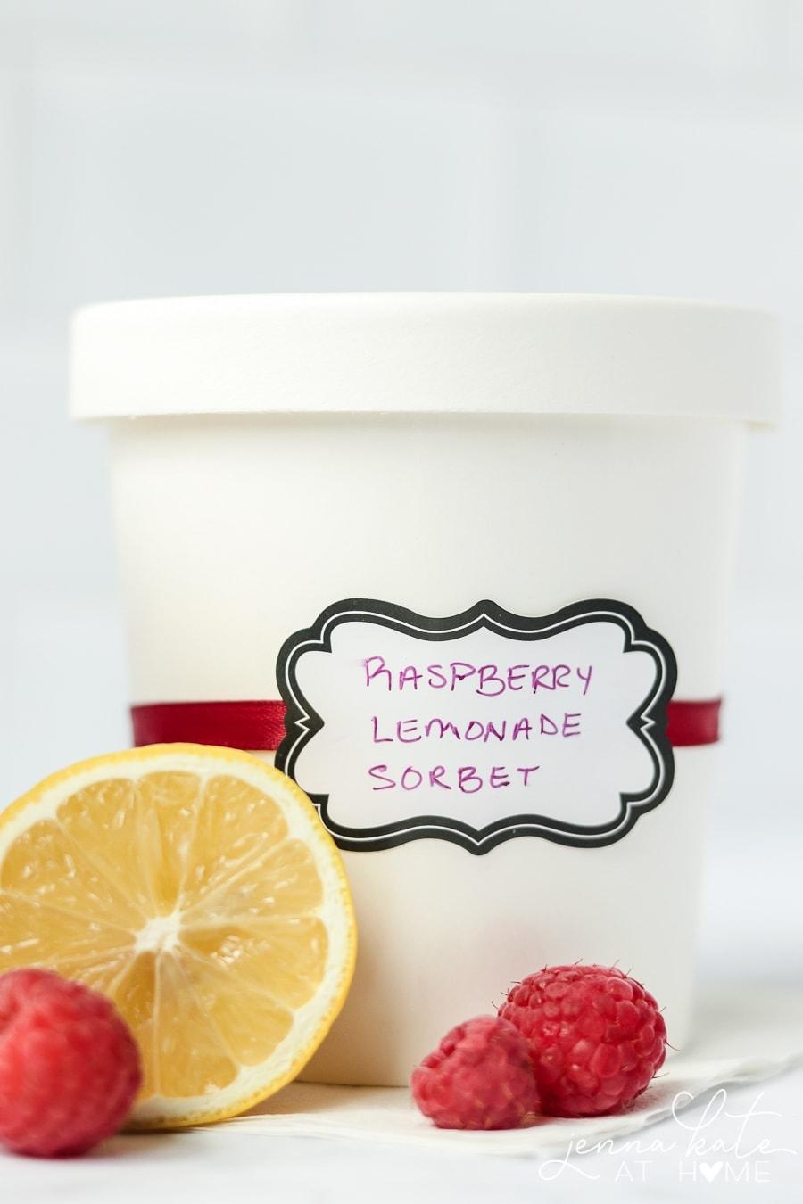 Homemade Raspberry Lemonade Sorbet Recipe