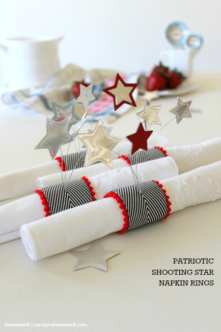 Patriotic Napkin Rings with Stars