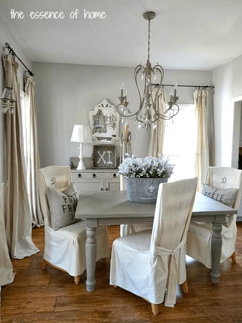 Benjamin Moore Gray Owl Dining Room