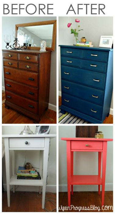 Before and After Photos of Perfectly Painted Furniture