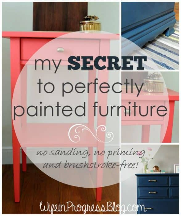 secret to perfectly painted furniture