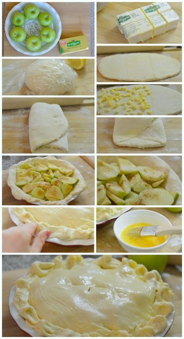 steps to make puff pastry apple pie