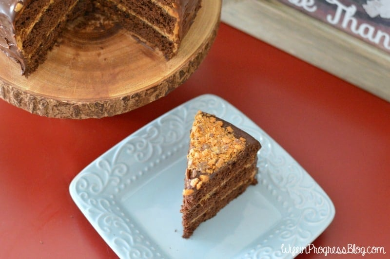 chocolate salted caramel crunch cake