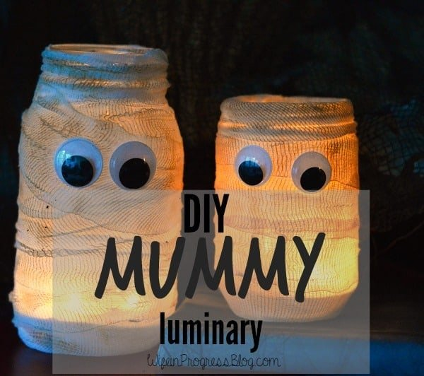 DIY Halloween Mummy Luminary