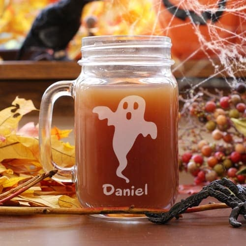 I love this engraved Halloween mason jar for a simple Halloween themed gift!