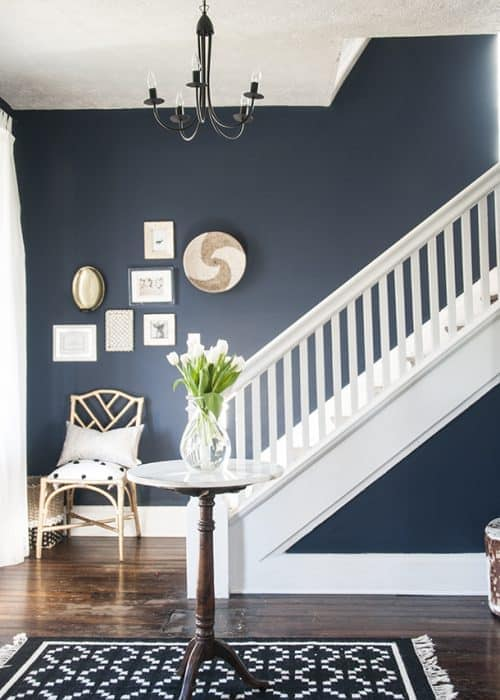 Naval by Sherwin Williams: The perfect navy for your entryway