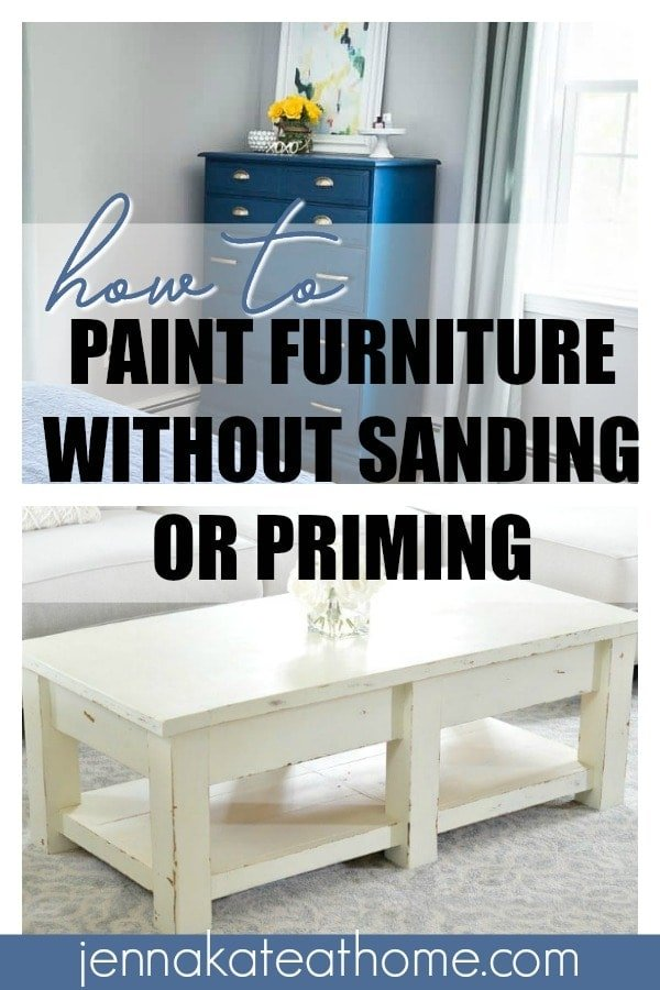 How to paint furniture without sanding or priming