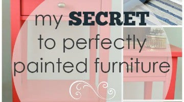 My Secret to Perfectly Painted Furniture | Wife in Progress