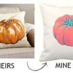 pottery barn pumpkin pillow knock-off
