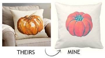 Pottery Barn Knock-Off Painted Pumpkin Pillow