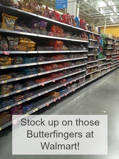 Walmart Butterfinger