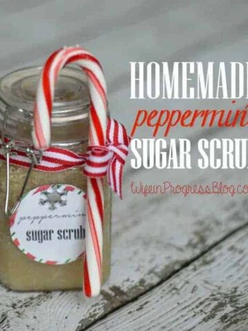 DIY handmade peppermint sugar scrub