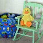 Mint Green Rocking Chair using Velvet Finishes Paint