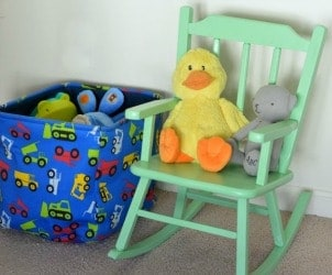 Mint Green Rocking Chair for Baby Boy