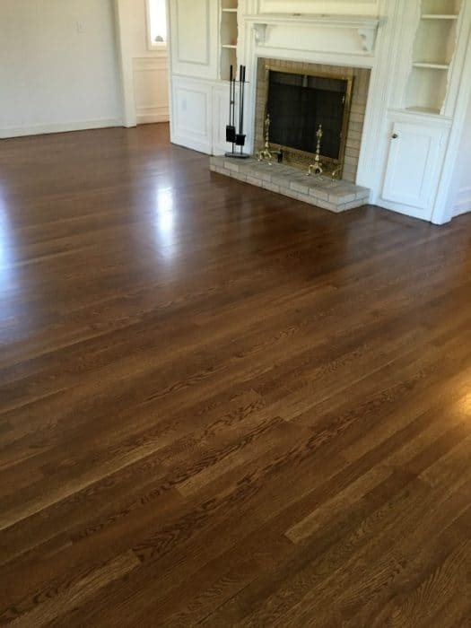 White oak floors stained wth Bona DriFast stain in Provincial
