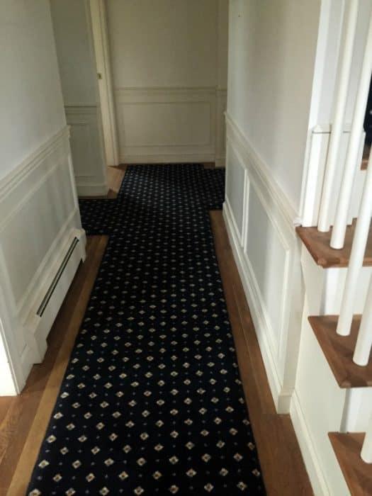 White oak floors before Bona DriFast stain in Provincial
