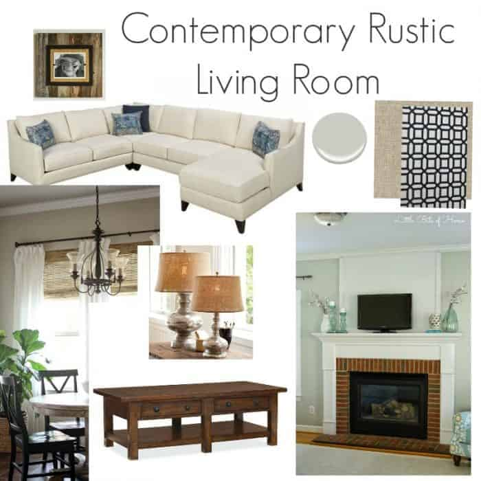 contemporary rustic living room