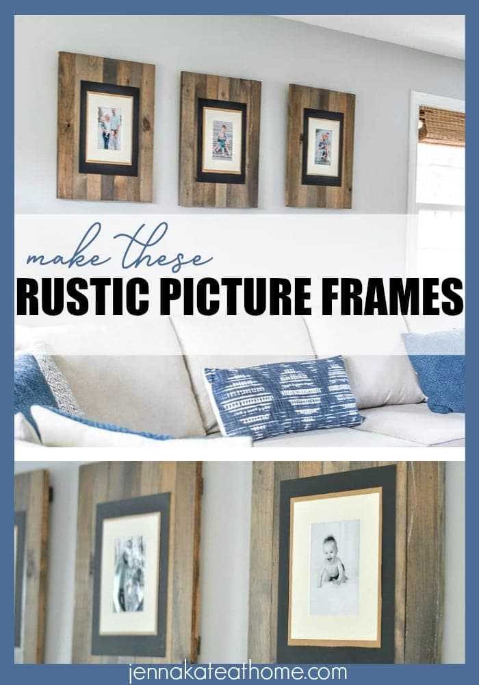 DIY Picture Frame: Get the Rustic Weathered Pallet Look