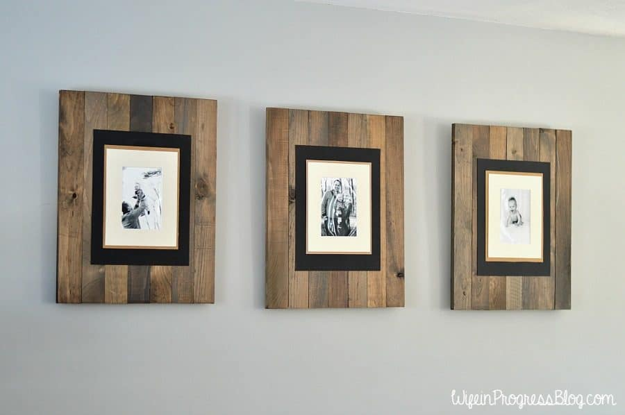 Diy picture frame get the rustic weathered pallet look solutioingenieria Choice Image