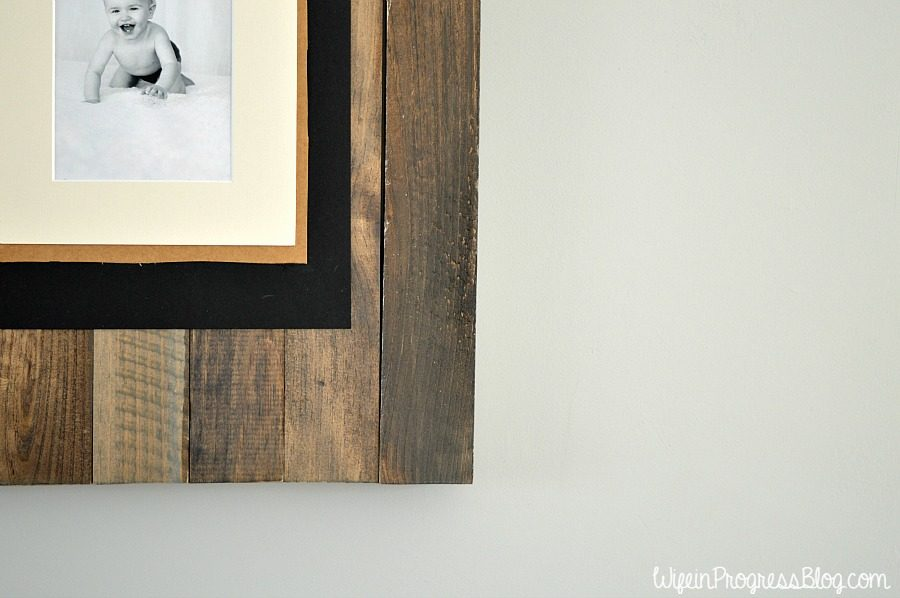 These homemade picture frames are perfect for family photos