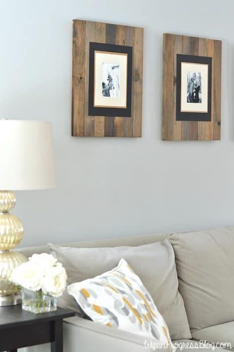 Simple DIY farmhouse style rustic picture frames for your home