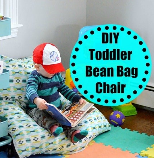 diy toddler bean bag chair wife in progress. Black Bedroom Furniture Sets. Home Design Ideas