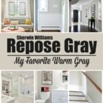 Repose Gray by Sherwin Williams is the perfect warm gray that you've been looking for. It will work in any room in your home, guaranteed!