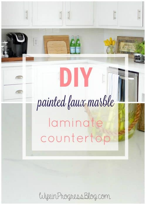 Faux Marble Painted Kitchen Countertop Jenna Kate At Home