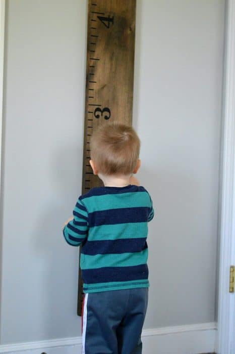 Make your own growth chart ruler that's life size for only $25!
